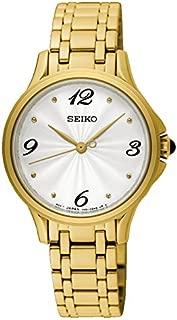 Seiko womens SRZ494P Year-Round Analog Solar Powered Gold Watch