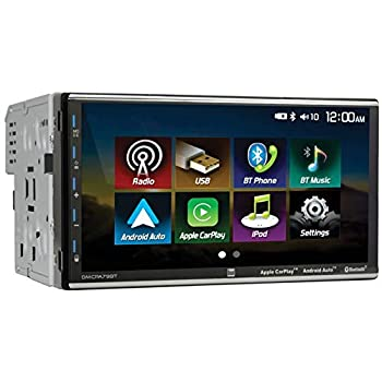 Dual Electronics 7  Double Din Mechless Digital Media Receiver with Apple CarPlay Android Auto