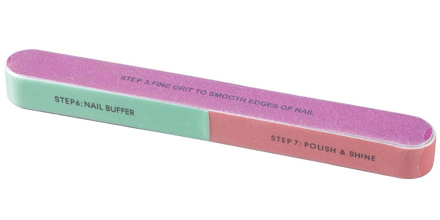 ネイルポリッシャー 7ステップ 爪磨き/爪やすり/つめ削り/ネイルケアグッズ/スポンジ