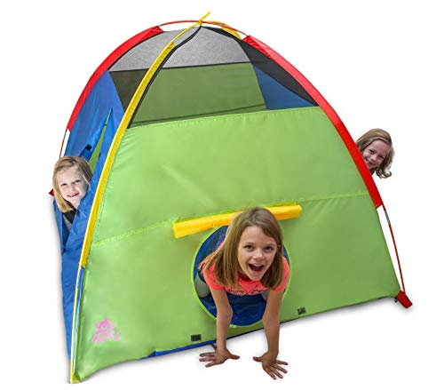 Kiddey Kids Play Tent & Playhouse – Indoor/Outdoor Camping Tent for Boys and Girls – Promotes Early Learning, Social Bonding, Imagination Building and Roleplay – Easy Setup