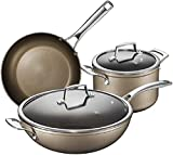 TYX-SS Stock Pot Pan Setss Nonstick Pots and Pans Set 5-Piece Nonstick Cookware Set with Induction Base Professional Kitchen Pots and Pans