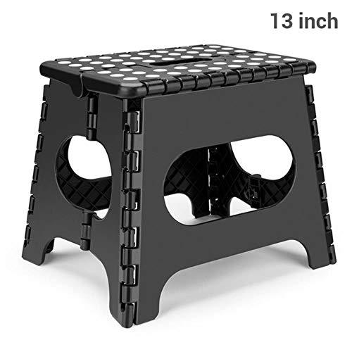 Miner 15inch opvouwbare plastic stoel voet opstapkruk moestuin badkamer wc kruk outdoor draagbare wandelstoel kindermeubilair, 13inch zwart
