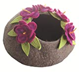 Le Sharma Eco-Cat Cave Deluxe, 100% All Natural Felted Wool, 20' Diameter, 11' Height, Handcrafted Cat Bed (Violet/Brown)