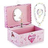 RPJC Kinder Musik - Glocke Schmuckkästchen - Box Speichern und Set für Schmuck mit Hübsches Mädchen Thema - Wunderschön Träumer Tune Pink -