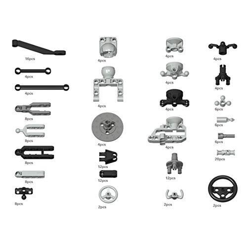 Fujinfeng Technik Teile für Lego, 180 Teile Motor Federung usw. Technic Teile Einzelteile