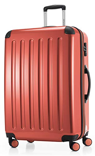 Hauptstadtkoffer Handgepäck Laptopfach Hartschalen-koffer Trolley Rollkoffer Reisekoffer 4 Doppel-rollen, Roller Case, 55 cm,HK28-8278TSA-CO