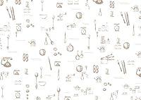 モノココロ (A4・50枚入) アンティーク (白) ラッピングを楽しむ 包装紙