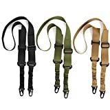 Accmor 3 Pack Rifle Gun Sings, 2 Point Slings Two Point Traditional Slings with Metal Hook for Outdoor Sports (Black + Khaki + Green)