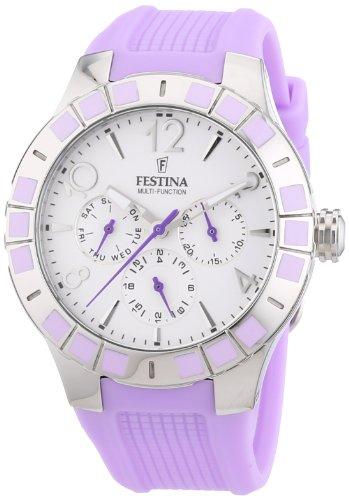 Festina F16675/2 - Reloj de Pulsera Mujer, Caucho, Color Mor