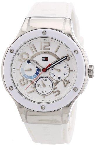 Tommy Hilfiger 1781310 - Reloj de Cuarzo para Mujer, Correa de Silicona Color Blanco