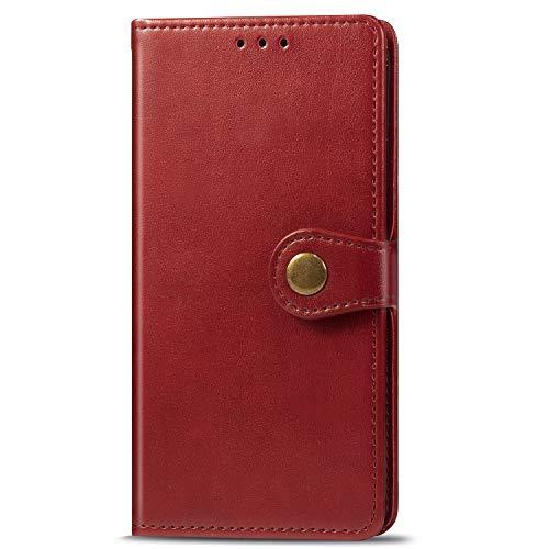 VGANA Funda Compatible para Huawei Honor 9X Lite, Carcasa Billetera Cuero Premium Color Sólido, Concha TPU Silicona Suave Anti Caída. Rosa