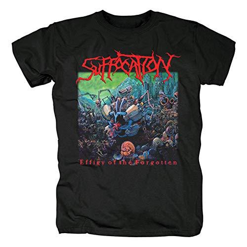 Herren T-Shirt Suffocation Short Sleeve Shirt Men T-Shirt Tee Shirts Gr. M, Schwarz