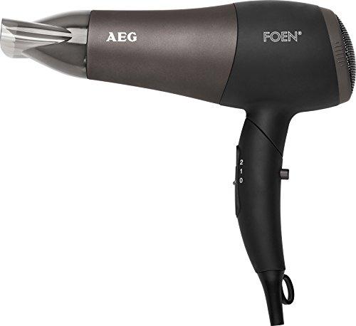 Electrolux HTD 5649 - Secador de pelo profesional iónico con difusor, 2 niveles de temperatura y velocidad, mango abatible, 2200 W, color negro