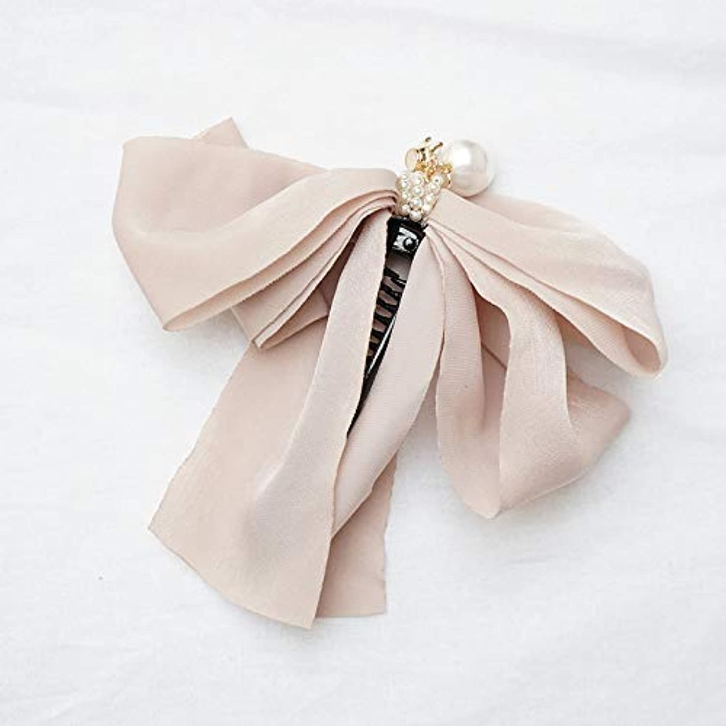 神経障害繊細弾薬HuaQingPiJu-JP ファッションロゼットヘアピン便利なヘアクリップ女性の結婚式のアクセサリー(アプリコット)