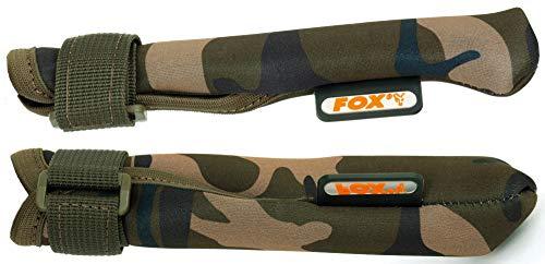 Fox Camo Tip & Butt protectors - 2 Rutenschützer für Karpfenrute, Rutenschoner für Rutenspitze & Handteil, Schützer für Angelrute