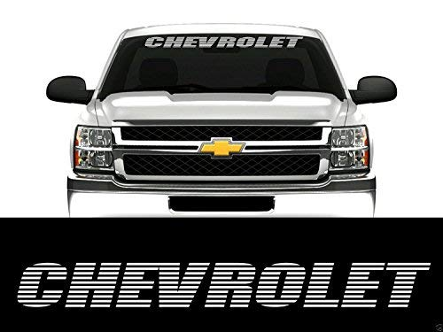 SUPERSTICKI® kompatibel für Chevrolet Cruze Windshield Aufkleber Decal Hintergrund/Maße in inch Car Sticker Banners Graphic Die Cut