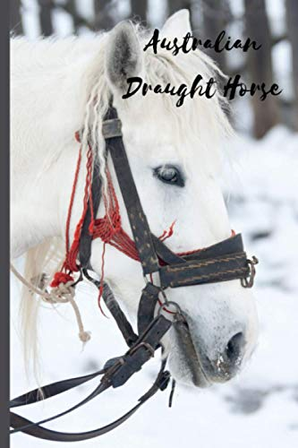 Australian Draught Horse: Journal and Notebook - Composition Size (6'x9') With 120 Lined Pages, Perfect for Journal, Doodling, Sketching and Notes