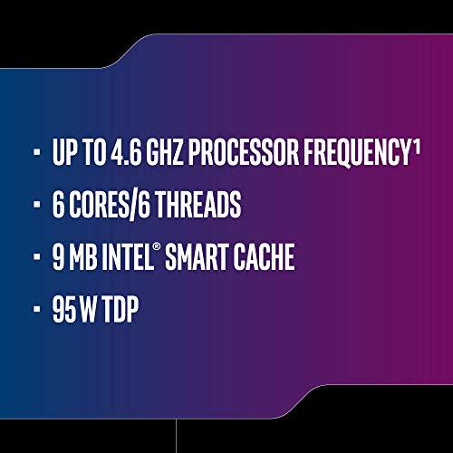 Intel Core i5-9600K Desktop Processor 6 Cores up to 4.6 GHz Turbo unlocked LGA1151 300 Series 95W