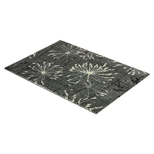 Schöner Wohnen Fussmatte Manhattan Pusteblume grau-Mint040 | 67x100 cm