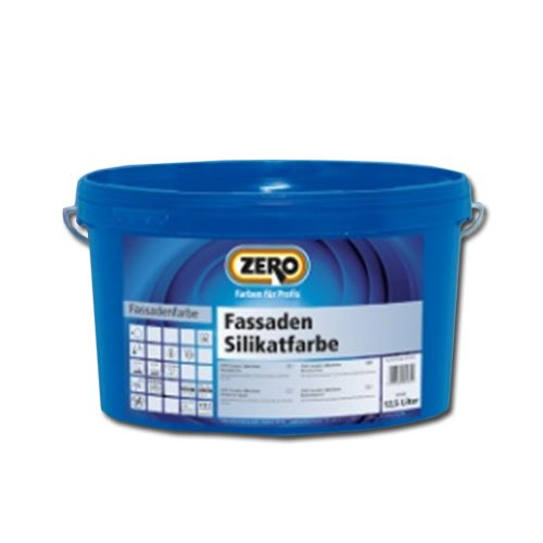 Zero Fassaden Silikatfarbe 12,5 Liter Weiß