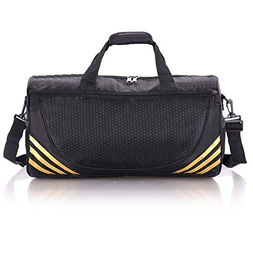 Zipper Workout Bag Sports Duffel Bags - New Brand Nylon Waterproof Sport Bag Men Women for Gym Fitness Outdoor Travel Sports Training Messenger Bags Lightweight and Large Capacity