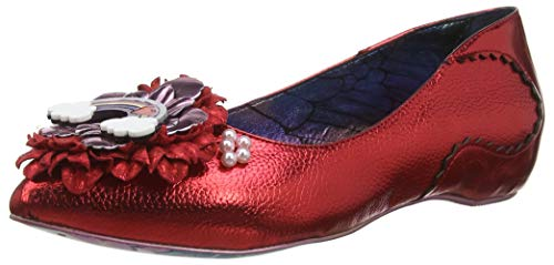 Irregular Choice Damen Little Lady Daisy Pumps, Rot (Red A), 38 EU