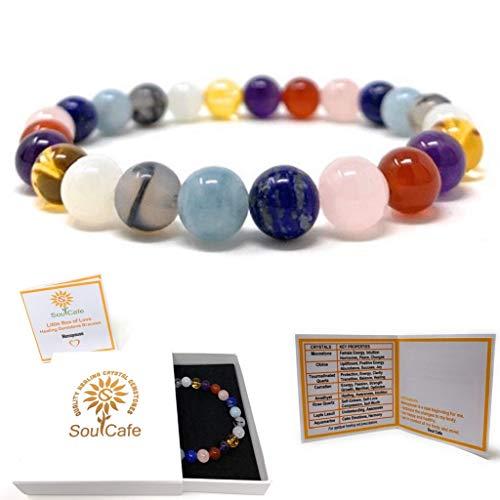 Menopause Bracelet - Power Bead Bracelet - Healing Crystal Gemstones - Gift Box and Information Tag