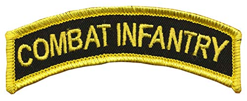 "CVMA Style TAB -""Combat Infantry"" - 1"" X 3 1/2"" Combat Infantry Tab - Merrowed Edge and Wax Backing - OIF, OEF, Desert Storm, Operation Just Cause, Somalia, 11B, Grunt, Fort Benning, Georgia, Combat"
