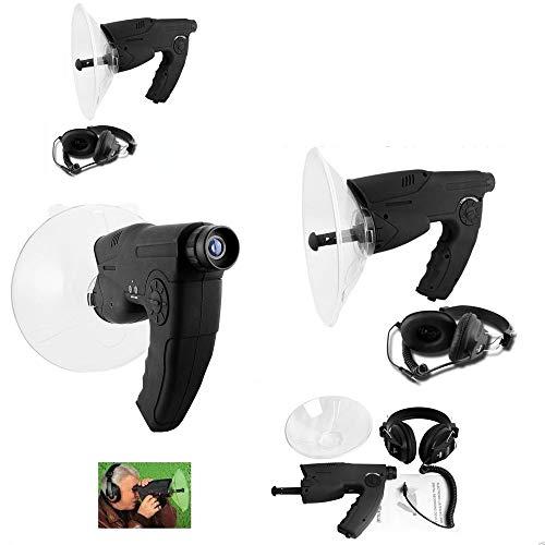 Trade Shop Traesio Kit Microfono Spia Spy Direzionale Monocolo Registratore Cuffia Ascolto Ambiente