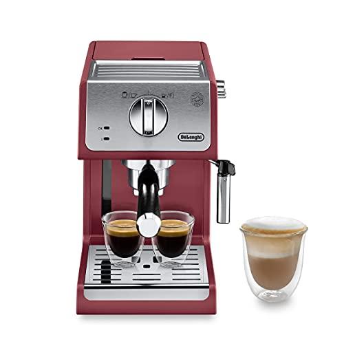 De'Longhi Active Line ECP33.21.R Independiente - Cafetera (Independiente, Cafetera combinada, 1,1 L, De café molido, 1100 W, Rojo)