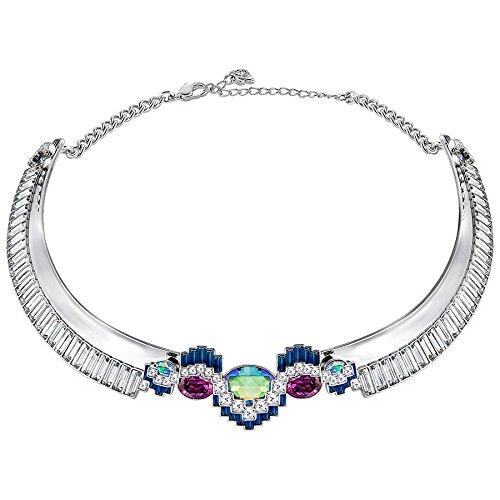 Swarovski Damen-Halskette Platiniert Kristall Mehrfarbig Marquiseschliff-5237158