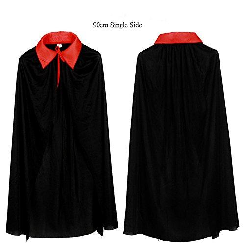 90cm unique long noir et rouge Vampire manteau