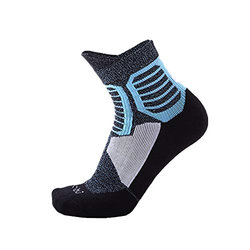 KUENG Calcetines Ciclismo Calcetines Antiampollas Senderismo Calcetines Altos Hombre Calcetines Hombre Colores Calcetines Futbol Hombre blue,Medium