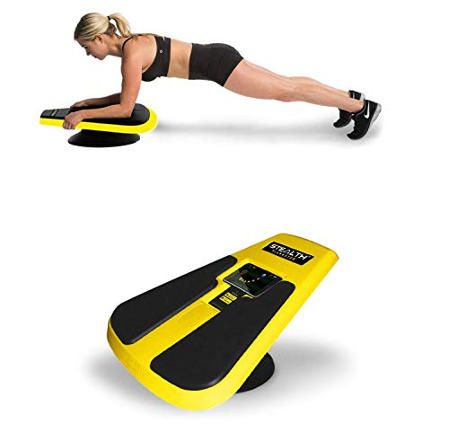 Stealth Core Trainer - Dynamic Core & Full Body Workout While Playing Games; Free iOS/Android Mobile Games App; Patented 360 Degree Planking Motion; Build Muscle & Lose Body Fat in 3 Min/Day (Yellow)