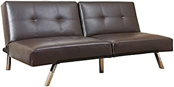Abbyson Living Stanford Convertible Split-Back Sofa Futon