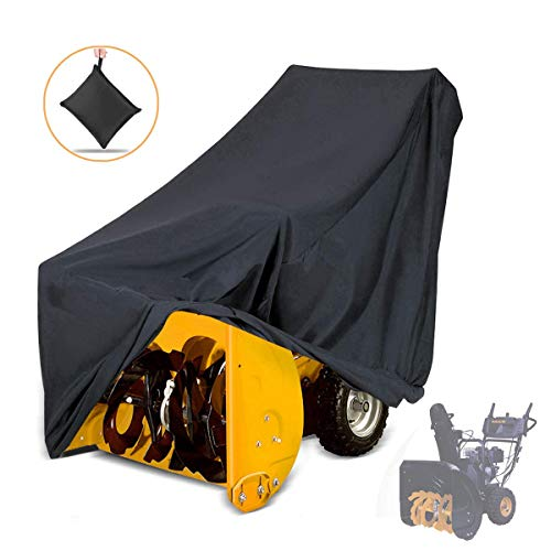 NASUM Snow Thrower Cover, Two-Stage Snow Blowers Cover, 50' L x 43' H x 35' W, Dustproof, Windproof, for Most Electric Snow Blowers with Locks Drawstring, Buckles, and Carrying Bag