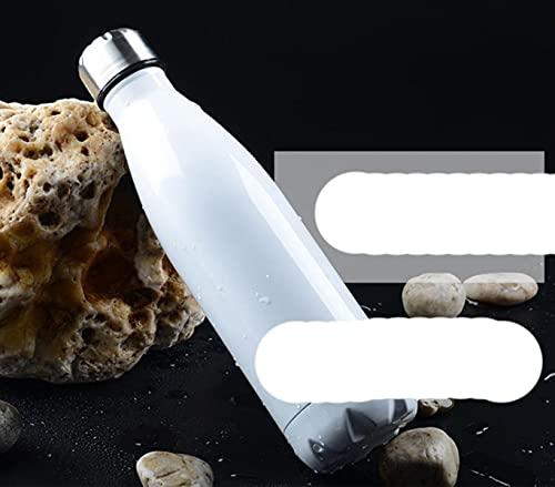 350/500/750/1000 Ml BPA-free Thermos Botella de vacío de aislamiento de doble capa Botella de agua de acero inoxidable Botella deportiva-500 ML, Blanco