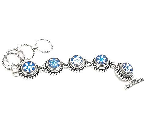 Mini 12mm Snap Charm Bracelet with Snowflake Snaps (1)