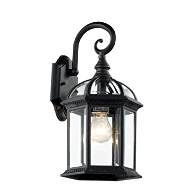 Trans Globe Lighting 4181 BK Outdoor Wentworth 15.75  Wall Lantern, Black