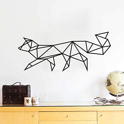 BailongXiao Fox Géométrique Vinyle Sticker Mural Fox Home Décoration Sticker Chambre des Enfants Animal Sticker Mural Autocollant Décoratif Art 30 cm x 69.6 cm