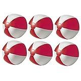 noTrash2003 Juego de 6 pelotas de agua hinchables para playa, playa, piscina, color rojo