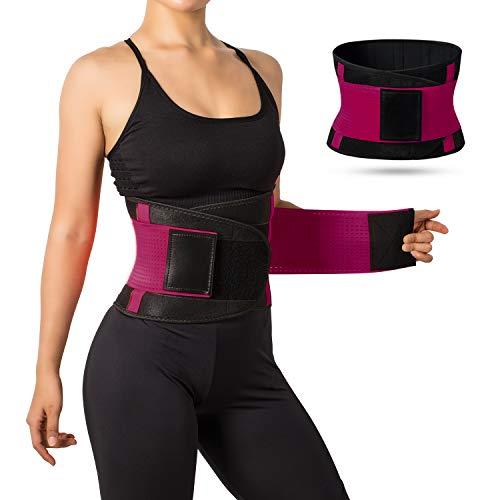 Jueachy Cinturón de Cintura para Mujeres Cinturón Transpirable Cintura Cuello Trimmer Faja Moldeadora Grasa de Grasa Quema para Adelgazar el Vientre para Perder Peso