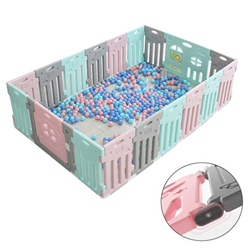 Lowest Prices! Large Playpen for Baby - Portable Indoor/Outdoor Kid's Activity Center with Games & S...