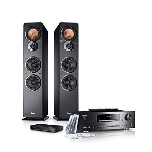 Teufel Ultima 40 Kombo Streaming Schwarz Stereo Lautsprecher Musik Sound Hochtöner Mitteltöner Bass Speaker High-End HiFi Soundanlage