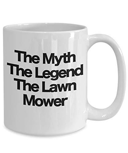 Irma00Eve de mythe de legende de grasmaaier koffiemok grappig cadeau voor gazon zorg specialist landscaper vader man broer partner