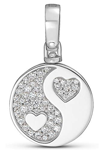 JETTE Silver Damen-Charm 925er Silber 47 Zirkonia One Size 87603491