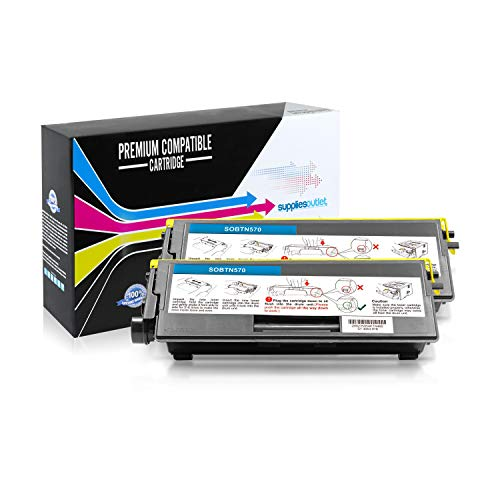 SuppliesOutlet Compatible Toner Cartridge Replacement for Brother TN570 / TN-570 / TN540 / TN-540 (Black,2 Pack)