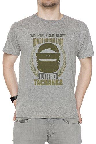 Lord Tachanka Uomo Girocollo T-Shirt Grigio Maniche Corte Dimensioni L Men's Grey Large Size L