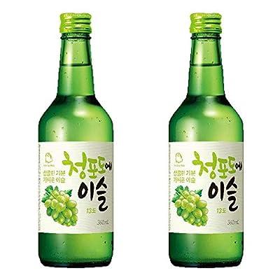 Jinro Green Grape Soju 360ml 13% Alc./Vol (Pack of 2)