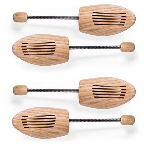 Blumtal 2 Paar Schuhspanner aus Echt-Holz - atmungsaktiv und offenporig, Schuhdehner für Damen und Herren, braun (40/41-2 Paar)